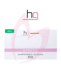 Head Gear Disposable Vinyl SMALL Gloves (Powder Free) 100
