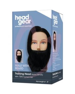 "Head-Gear Training Head - Male With Beard 6""- 8"""