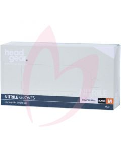 Head Gear Nitrile Gloves (Powder Free) Black Medium