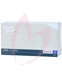 Head Gear Latex Gloves (Powder Free) Large