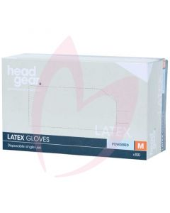 Head Gear Latex Gloves (Powdered) Medium