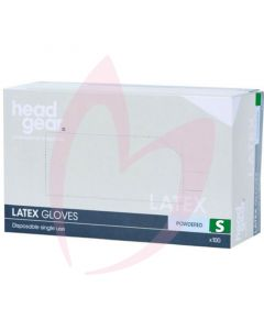 Head Gear Latex Gloves (Powdered) Small