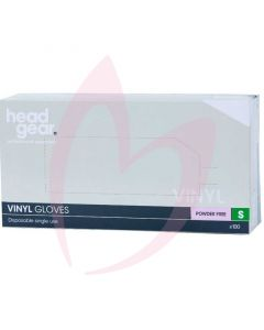 Head Gear Vinyl Gloves (Powder Free) Small