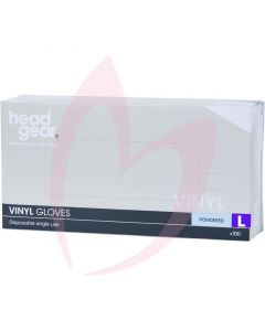 Head Gear Vinyl Gloves (Powdered) Large