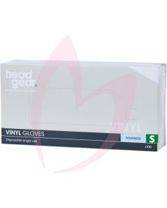 Head Gear Vinyl Gloves (Powdered) Small