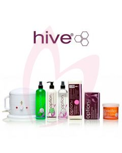 Hive Options Warm 'Honey' Starter Kit (Depilatory) & Mini Wax Heater 0.5 Litre