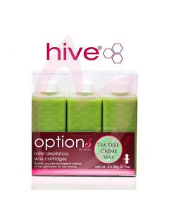 Hive Options Tea Tree Creme Wax Cartridges 6 x 80g