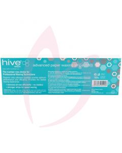 Hive Advanced Paper Waxing Strips x100 (22.5cm x 7.5cm)