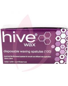 Hive Disposable Waxing Spatulas 15cm x 2cm (Box Of 100)