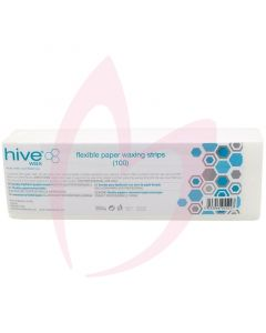 Hive Flexible Paper Waxing Strips x100 (22.5cm x 7.5cm)