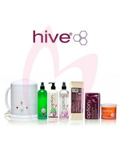 Hive Options Warm 'Honey' Accessory Pack (Depilatory) & No.1 Wax Heater 1 Litre