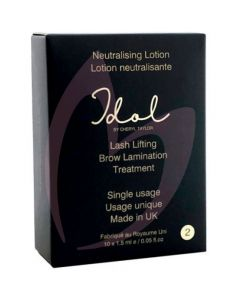 Idol by Cheryl Taylor Brow Lamination Step 2 Neutralising Lotion 10 x 1.5ml Sachets