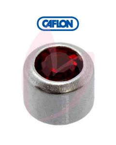 Caflon Stainless Polished Regular (January) Birth Stone Pk12