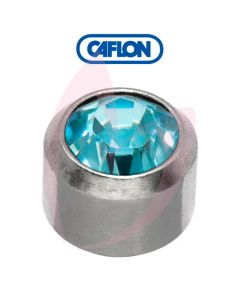 Caflon Stainless Polished Regular (March) Birth Stone Pk12
