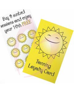 Tanning Loyalty Cards 100 Pack (2019)