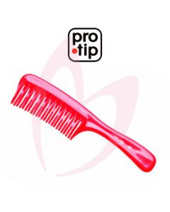 Pro Tip 08 Handle De-Tangler Comb Red