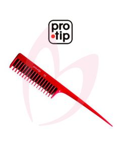 Pro Tip 10 Back Comber Comb Red (208 mm)