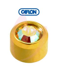Caflon Gold Regular Rock Crystal Birth Stone
