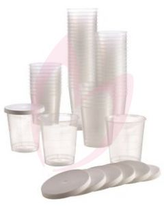 Disposable Cups WIth Lids (90)
