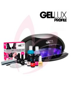 Salon System Gellux Gel Polish Kit + Profile LED Express Lamp