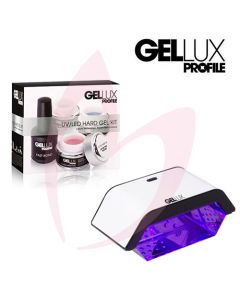 Salon System Gellux UV/LED Hard Gel Kit + Mini LED Lamp