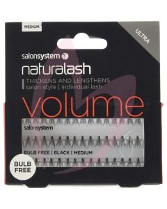 Salon System Individual Lash Black - Medium (VOLUME) Bulb Free