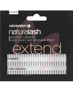Salon System Individual Lashes Black Assorted (EXTEND)