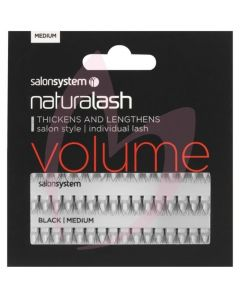 Salon System Individual Lashes Flare Black - Medium (VOLUME)
