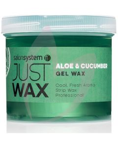 Salon System Just Wax Gel Wax Aloe Vera & Cucumber 450g