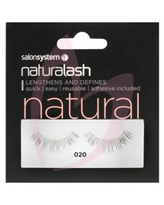 Salon System Naturalash Strip Lashes - 020 Black (NATURAL)