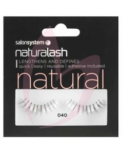 Salon System Naturalash Strip Lashes - 040 Black (NATURAL)