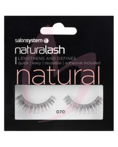 Salon System Naturalash Strip Lashes - 070 Black (NATURAL)