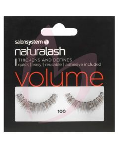 Salon System Naturalash Strip Lashes - 100 Black (VOLUME)