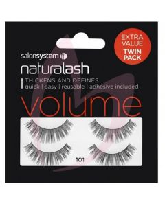 Salon System Naturalash Strip Lashes - 101 Black (VOLUME) Twin Pack