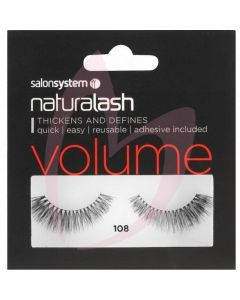 Salon System Naturalash Strip Lashes - 108 (VOLUME)