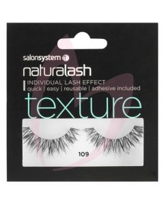 Salon System Naturalash Strip Lashes - 109 Black (TEXTURE)