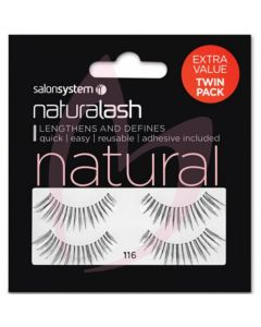 Salon System Naturalash Strip Lashes - 116 Black (NATURAL) Twin Pack