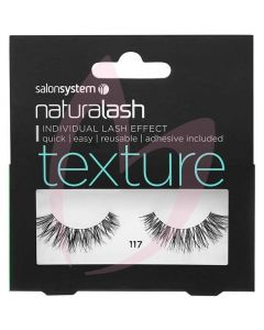 Salon System Naturalash Strip Lashes - 117 Black (TEXTURE) Wispy Effect