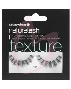 Salon System Naturalash Strip Lashes - 118 Black (TEXTURE)