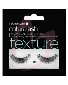 Salon System Naturalash Strip Lashes - 119 Black (TEXTURE)