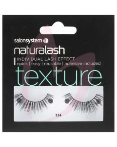 Salon System Naturalash Strip Lashes - 134 Black (TEXTURE)