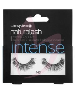 Salon System Naturalash Strip Lashes - 143 Black (INTENSE)