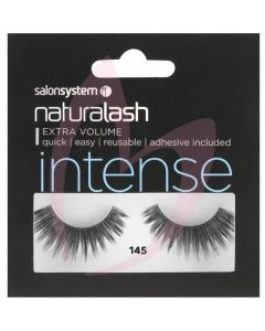 Salon System Naturalash Strip Lashes - 145 Black (INTENSE)