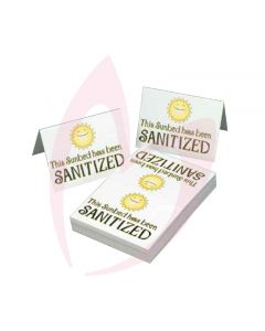 Sanitized Signs 100 Pack