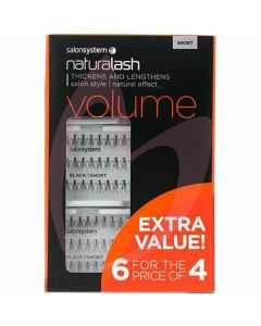 Salon System Naturalash Individual Lashes (Extra Value Pack 6 for 4) - Short (VOLUME)