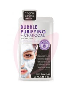 Skin Republic Face Mask Bubble + Purifying + Charcoal Face Mask 18ml