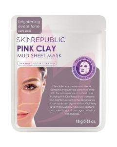 Skin Republic Pink Clay Mud Sheet Face Mask 18g