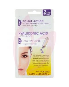 Skin Republic Two-Step Face Mask Hyaluronic Acid+Collagen Microdermia