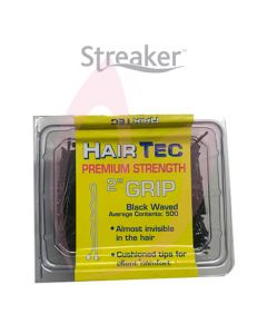 "HairTec Premium 2"" Waved Grips Black (500)"