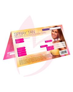 Sunless Spray Tan Record & Consultation Cards x50 (2019)
